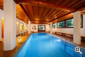Indoor pool at Pension Haller